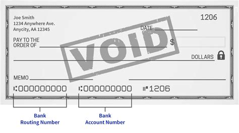 Voided Check Example
